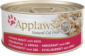 Консервы APPLAWS для взрослых кошек с курицей и уткой Cat Chicken/Duck