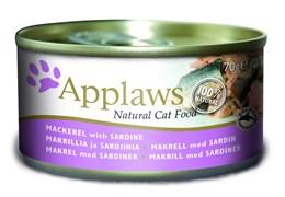 Консервы APPLAWS Cat Mackerel/Sardine для взрослых кошек со скумбрией и сардинками
