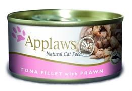 Консервы APPLAWS для взрослых кошек с филе тунца и креветками Cat Tuna Fillet/Prawn