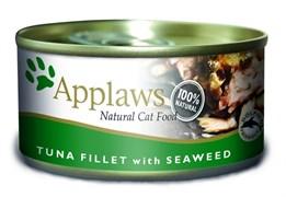Консервы APPLAWS для взрослых кошек с филе тунца и морской капустой Cat Tuna Fillet/Seaweed