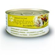 Консервы APPLAWS Cat Jelly Chicken/Mango для взрослых кошек с курицей и манго в желе