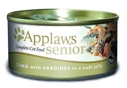 Консервы APPLAWS Senior Cat Jelly Tuna/Sardine для пожилых кошек с тунцом и сардинами в желе