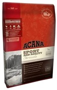Беззерновой сухой корм ACANA Heritage SPORT/AGILITY для активных собак всех пород