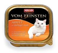 Консервы ANIMONDA Vom Feinsten Adult для взрослых кошек с домашней птицей и телятиной