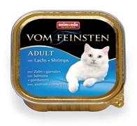 Консервы ANIMONDA Vom Feinsten Adult для взрослых кошек с лососем и креветками