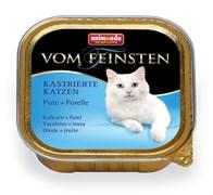 Консервы ANIMONDA Vom Feinsten Adult для кастрированных кошек с индейкой и форелью
