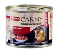 Консервы ANIMONDA CARNY Adult для взрослых кошек с говядиной и сердцем