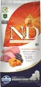 Беззерновой cухой корм FARMINA ND для щенков средних и крупных пород янгенок с черникой и тыквой