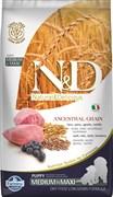 Низкозерновой cухой корм FARMINA ND для щенков средних и крупных пород с ягненком и черникой