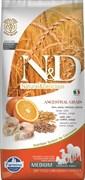Низкозерновой cухой корм FARMINA ND для взрослых собак всех пород рыба с апельсином